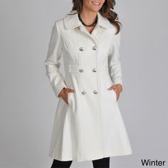 Vince Camuto Wool-Blend Double-Breasted Pea Coat | Vince Camuto ...