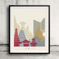 Bali skyline Poster INSTANT DOWNLOAD 8x10 inches par PaulPrintables