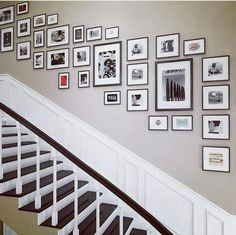 Wall layout, photo frame layout, gallery walls, stairway pictures, space un Picture Wall Staircase, Gallery Wall Staircase, Staircase Wall Decor, Stair Walls, Gallery Walls, Pictures On Stairs, Photo Frame Layout, Photo Frame Decoration, Family Wall Decor