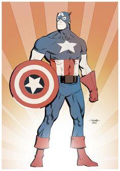 Captain America by Marcio Takara