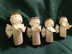 Noodle Angel Christmas Tree Ornaments with by MelsCleverCreations, $8.49