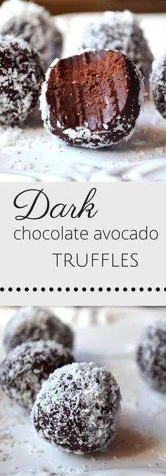 You will LOVE these. An intense chocolate hit minus the guilt. You will LOVE these. An intense chocolate hit minus the guilt. Healthy Dark Chocolate, Dark Chocolate Truffles, Chocolate Truffle Recipe, Dark Chocolate Recipes, Dark Chocolate Cakes, Chocolate Brownies, Chocolate Covered, Avocado Dessert, Avocado Cake