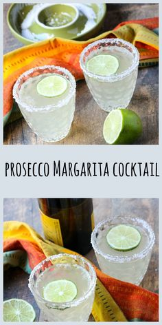 Prosecco adds a fruity sparkle to a classic Margarita, resulting in a vibrantly bubbly, refreshing cocktail. Prosecco Cocktails, Refreshing Cocktails, Summer Drinks, Cocktail Drinks, Fun Drinks, Alcoholic Drinks, Bourbon Drinks, Burger Bar, Low Cal
