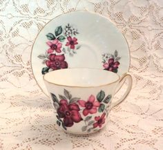 Royal Kendall Tea Cup and Saucer Fine Bone by VintageGlassEscape