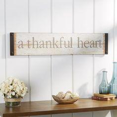 You'll love the Thankful Heart Wall Décor at Birch Lane Heart Wall Decor, Metal Wall Decor, Farmhouse Wall Decor, Farmhouse Signs, Farmhouse Style, Cheap Home Decor, Diy Home Decor, Ikea, New Wall