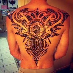 My new back - Everything Gets A Return Full Back Yin Yang Polynesian & Celtic Tattoo