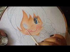 Pintura en tela niña berenjena # 1 con cony - YouTube