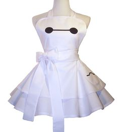 Baymax Apron Baymax Costume Apron Baymax by WellLaDiDaAprons. I want this or at-least for my cousin.