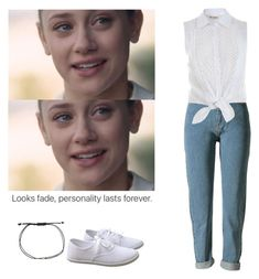 A fashion look from February 2017 featuring white shirt, high rise jeans and sport shoes. Browse and shop related looks. Betty Cooper Style, Betty Cooper Outfits, Betty Cooper Aesthetic, Simple Outfits, Trendy Outfits, Cool Outfits, Summer Outfits, Fashion Outfits, Betty Cooper Riverdale