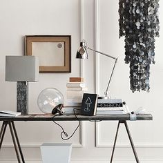 West Elm does it again. I so do wish I had enough room for the hanging capiz pendant lamp.