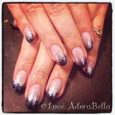 Loving this French Glitter Fade w/ @Elizabeth Hayes #french #frenchnails #glitterfade #gelnails #gelpolish #glitter #glitternails #gelmanicure #pretty #nailart #nails #girls #fashion #style #loveadorabella