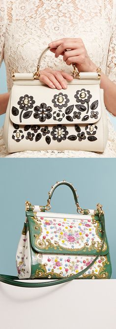 Show the sweet side of your fashion personality with handbags from #DolceGabbana and more. #SaksStyle