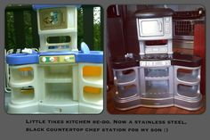 Little tikes kitchen re-do