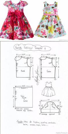 Toddler Sewing Patterns, Kids Clothes Patterns, Baby Girl Dress Patterns, Sewing Kids Clothes, Doll Dress Patterns, Clothing Patterns, Baby Girl Party Dresses, Little Girl Dresses, Kids Blouse Designs