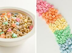 Make your own Lucky Charms, with higher quality ingredients, much less expensive, and a whole lot more fun