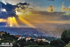 Sunset from Beit Mery  الغروب من بيت مري By Rabih M