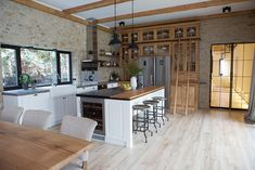Our first project: Ranch-inspired home in Kyiv, Ukraine #interior #design #home #decor #idea #inspiration #cozy #style #room #kitchen #ranch #american #wooden #stone #floor #glass #door #kiev