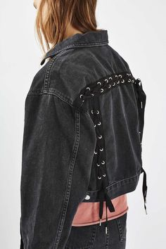 MOTO Lace up Crop Jacket