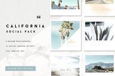 California Social Media Pack by Aloha Philly on @creativemarket