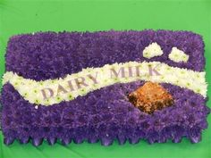 Cadburys Chocolate Bar Funeral Tribute A tribute for all Chocolate lovers, this tribute is approx 2 foot long. Twine Flowers, Dried Flowers, Funeral Floral Arrangements, Flower Arrangements, Grandad Funeral Flowers, Funeral Tributes, Memorial Flowers, Funeral Memorial, Sympathy Flowers