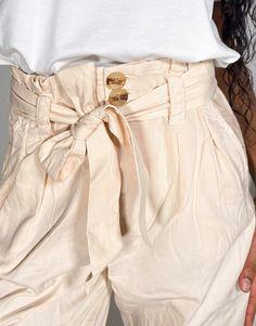 Miss Selfridge - Stenfarvede højtaljede bukser med bindebånd i taljen   ASOS Asos, Miss Selfridge, Hearts, Pink, Fashion, Moda, Rose, Hot Pink, Fasion