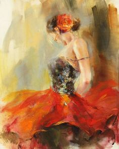anna razumovskaya paintings | Click For Framed Example: Anna Razumovskaya - Samba Rouge III