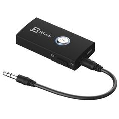 Bluetooth Receiver, JETech® Wireless Bluetooth Stereo Audio Transmitter and Receiver 2-in-1 Bluetooth Adapter With 3.5mm Stereo Output for Speakers, Headphone, TV, PC, iPod, MP3 / MP4, Car Stereo and More