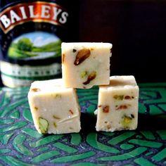 Bailey's Irish Cream and Pistachio fudge