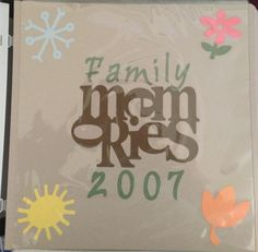 Scrapbook title page using the Graphically Speaking and other Cricut cartridges.