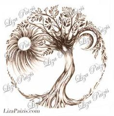 Tree of Life Tattoo design by Liza Paizis original by TattooMagic