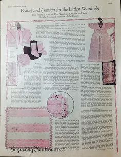 Women's World: The Book of Baby Trousseaux. A vintage 1926 baby magazine.