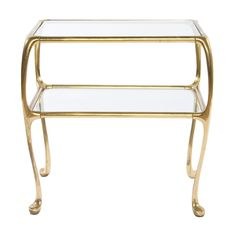#decoratecolorfully two tier brass table