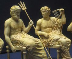 Apollon and Poseidon - British Museum Greek Statues, Greek Culture, Ancient Greece, British Museum, Deities, Apollo, Beautiful Words, Mythology, A4
