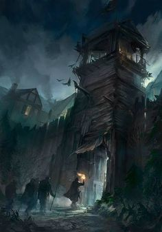 Flavio Bolla - Environment Concept Artist and Illustrator: Das Schwarze Auge - Step by Step Dark Fantasy Art, Fantasy Concept Art, Fantasy City, Fantasy Kunst, Fantasy Places, High Fantasy, Medieval Fantasy, Fantasy Artwork, Fantasy World