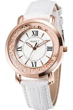 Inwet Blanc Cuir Montre à Quartz pour Femmes, Nouveaux Fashion Montre Bracelets, Blanc 2017 #2017, #Montresbracelet http://montre-luxe-femme.fr/inwet-blanc-cuir-montre-a-quartz-pour-femmes-nouveaux-fashion-montre-bracelets-blanc-2017-17/