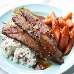 Super slow-cooker recipe. Tried this today and it was great! Beef brisket.