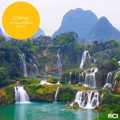 Travelers can take rafts to get an up-close view of the magnificent Ban-Gioc Detian Falls. #wanderlust