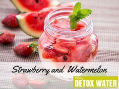 Strawberry and Watermelon Detox Water