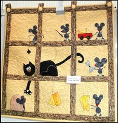 can't stop adoring this quilt from Casa de Patchwork, Favor Nao Tocar!I can't stop adoring this quilt from Casa de Patchwork, Favor Nao Tocar! Mini Quilts, Dog Quilts, Cute Quilts, Animal Quilts, Small Quilts, Cat Applique, Applique Quilts, Quilt Festival, Quilt Baby