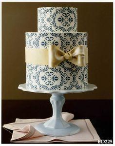 Tartas de cumpleaños - Birthday Cake - Beautiful patterned cake.