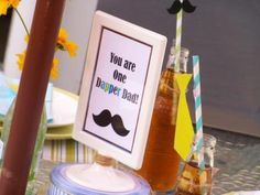 Dapper Dad Table Sign  by Cupcake Wishes & Birthday Dreams