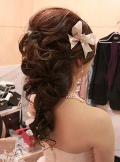 Which Hairstyle do you like and Why? Pic Heavy :  wedding curly hair half up half down Hair 10