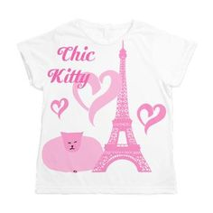 Princess Pink Fatty Catty is so chic. She's such a diva, and she absolutely ADORES #Paris! Here she is at the Eiffel Tower! #cats #cafepress    $49.39