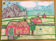 Paintbrush Rocket: Grade Landscapes (SLO lesson) on Art Folders Painters Cloth, Latex Allergy, Art Folder, Easy Paintings, Paint Brushes, Textures Patterns, Something To Do, Art Projects, I Am Awesome
