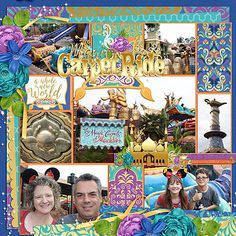 Template: Pocket Perfect Volume 15 (Kellybell Designs) Kits: A Whole New World (Kellybell Designs), A Whole New World Page Starters (Kellybell Designs), A Whole New World Journal Cards (Kellybell Designs), A Whole New World Word Art (Kellybell Designs)