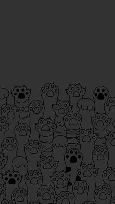 Wallpaper Gatos, Cat Phone Wallpaper, Cat Pattern Wallpaper, Kawaii Wallpaper, Pastel Wallpaper, Tumblr Wallpaper, Cute Wallpaper Backgrounds, Cute Cartoon Wallpapers, Pretty Wallpapers