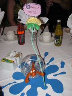 Cat in the hat fish centerpiece