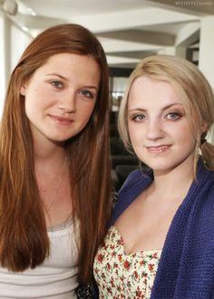 Bonnie Wright & Evanna Lynch. a.k.a Ginny Weasley & Luna Lovegood from Harry Potter:D