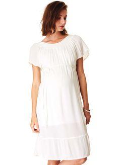 Esprit - Summer Boho Dress Boho Summer Dresses, Boho Dress, Maternity Wear, Maternity Dresses, Off The Shoulder, Short Sleeve Dresses, Tunic Tops, Cotton, How To Wear