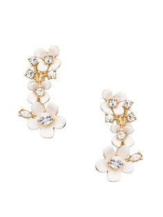 these wear-with-everything floral ear pins add the perfect amount of shimmer to outfits intended for day or night.